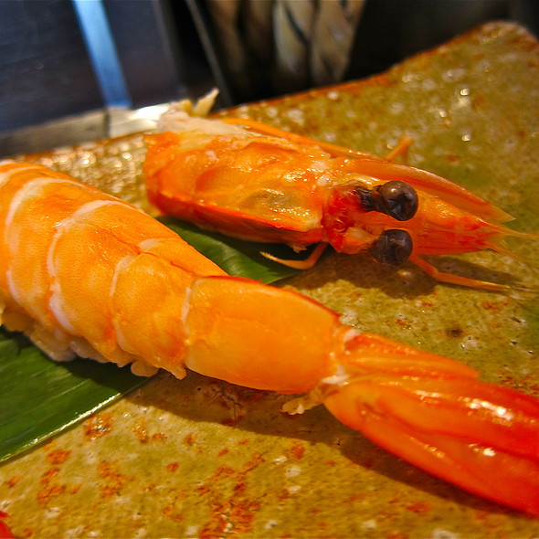 Aoebi Sushi/ steamed New Caledonia Blue Prawn @ Sushi Ran