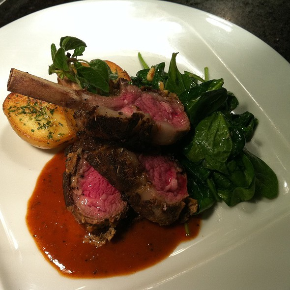 Roasted Rack of Lamb @ Levilla Restaurant