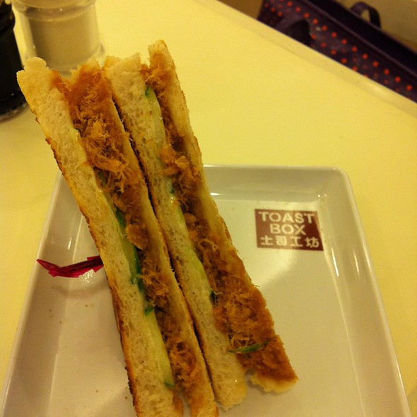 Pork Floss Sandwich @ Toast Box