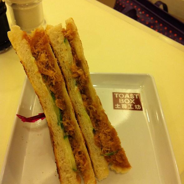 Pork Floss Sandwich @ Toast Box