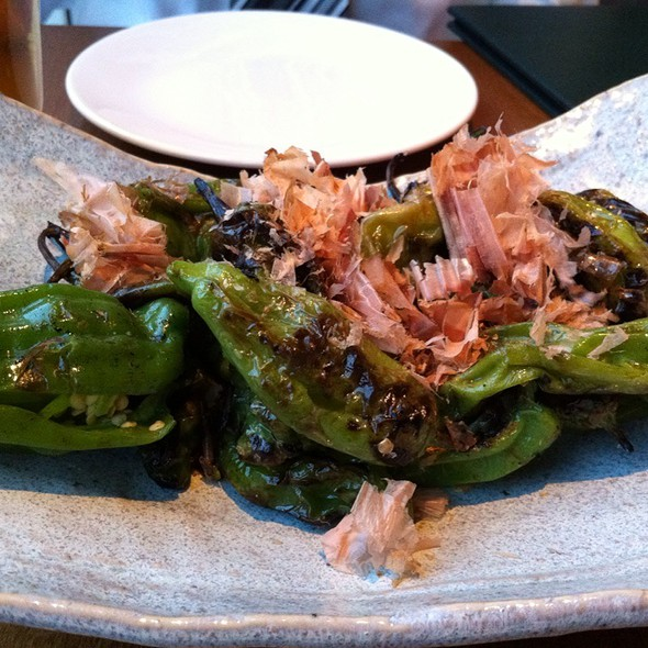 Robata Grilled Japanese Peppers @ Roka Akor Chicago