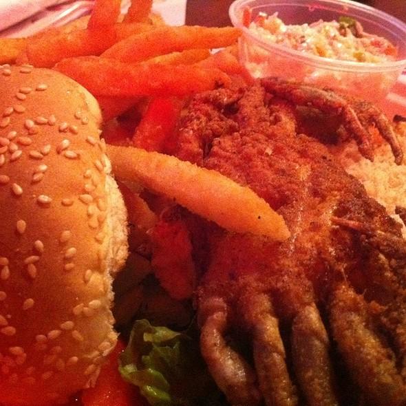 Softshell Crab Sandwich @ Brewsters Seafood Market