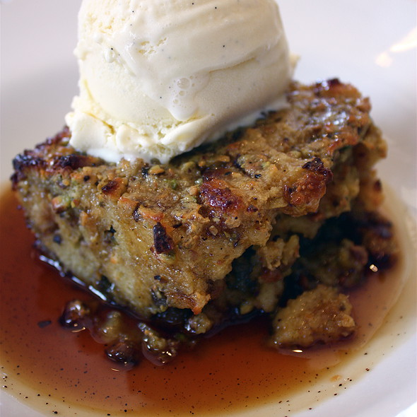 Pistachio Bread Pudding @ Cafe Chloe