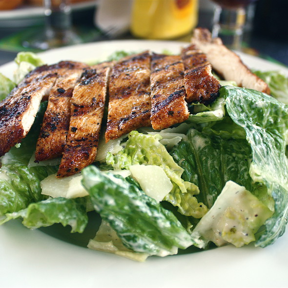 Chicken Caesar Salad @ Burgers & Brew