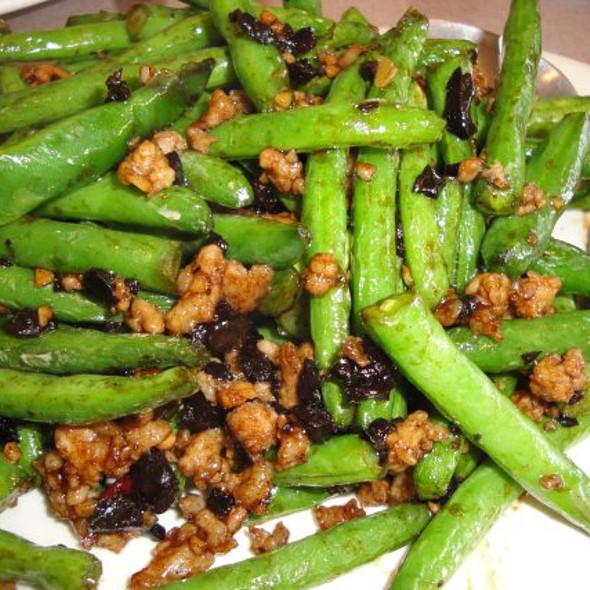 dry-fried green beans at Moon Garden Restaurant Llc