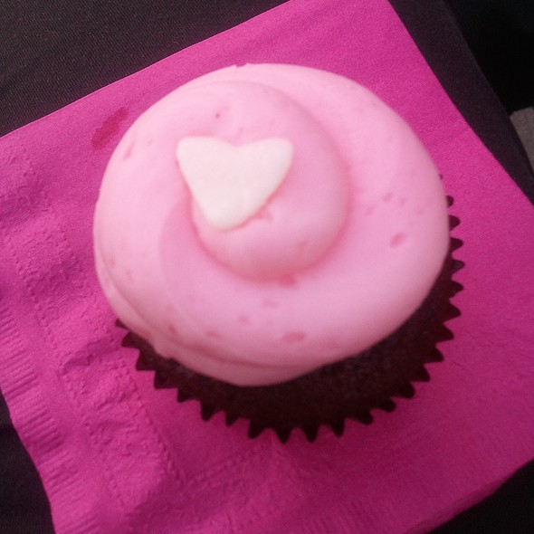 Breast Cancer Awareness Red Velvet Cupcake @ Frostings