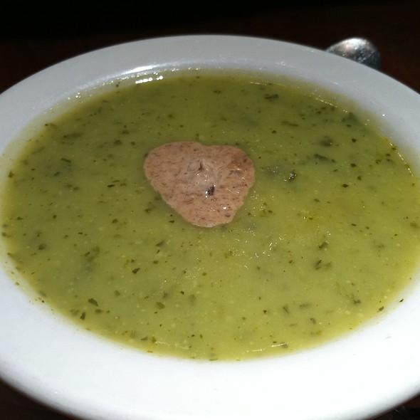 Zucchini soup with porcini cream - Elephant & Castle - New York, New York, NY