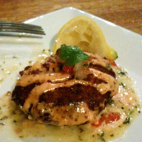 Crab Cake With Firecracker Salsa @ Clear Spring Texas Seafood
