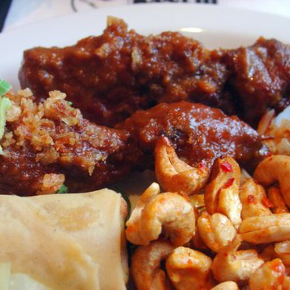 Chicken Satay with Fried Rice and Egg Roll @ Kantjil & De Tijger
