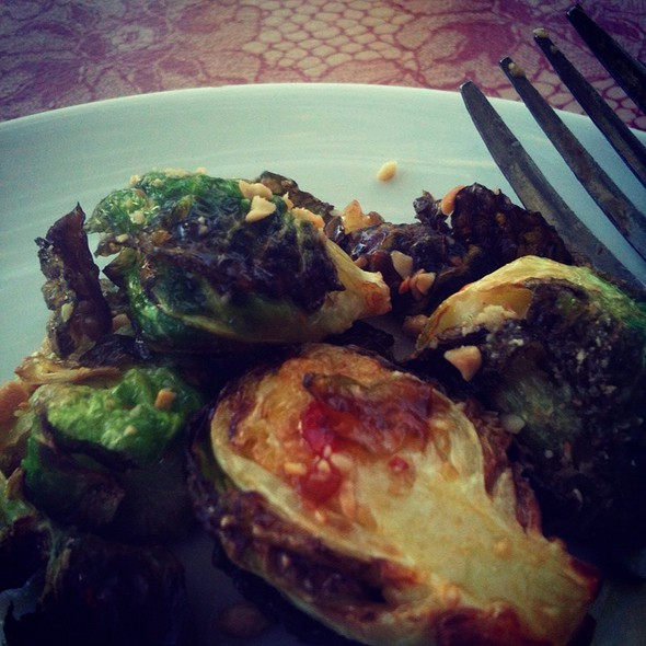 Roasted brussels sprouts @ The Monterey