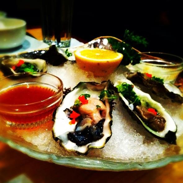 Fresh Oysters On A Half Shell @ Kabuki Japanese Restaurant