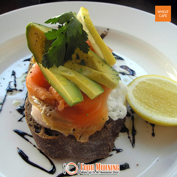Poached Eggs With Smoked Salmon @ Wheat Cafe