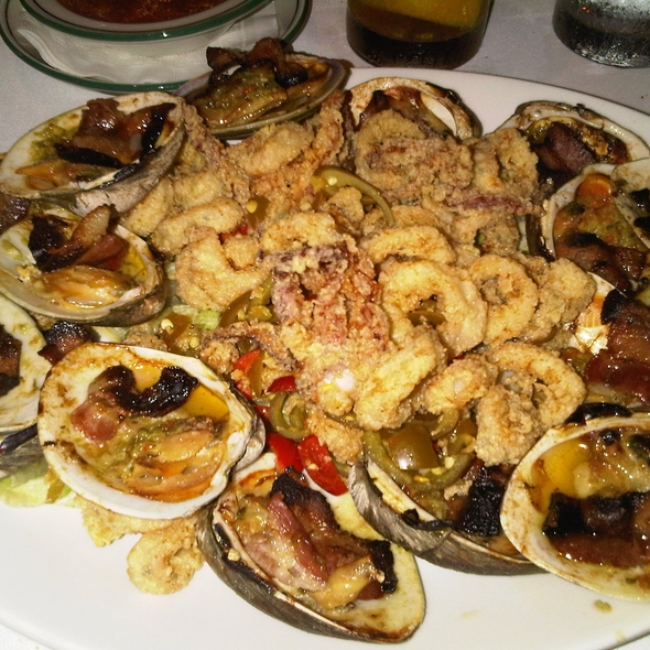 Clams casino & fried calamari