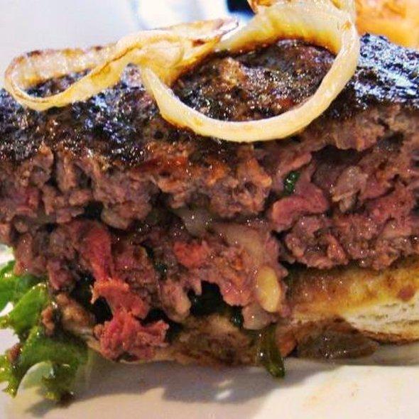Truffled Bone Marrow Filled Burger @ Elbert'S Steak Room