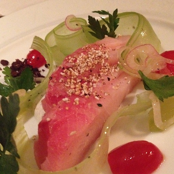 Cured Hamachi With Cucumber, Black Olives, Yogurt - Monkey Bar, New York, NY