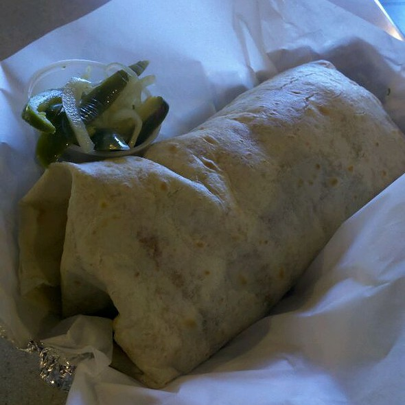 Shrimp Burrito With Jalapeno & Onion  @ Taco Factory