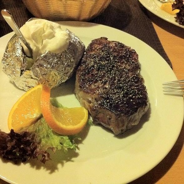 Steak With Baked Potatoese @ Sippl Stodl, Lupburg Bavaria