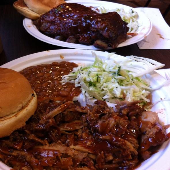 BBQ Pork & Rib Plate @ Abe's Bar-B-Q
