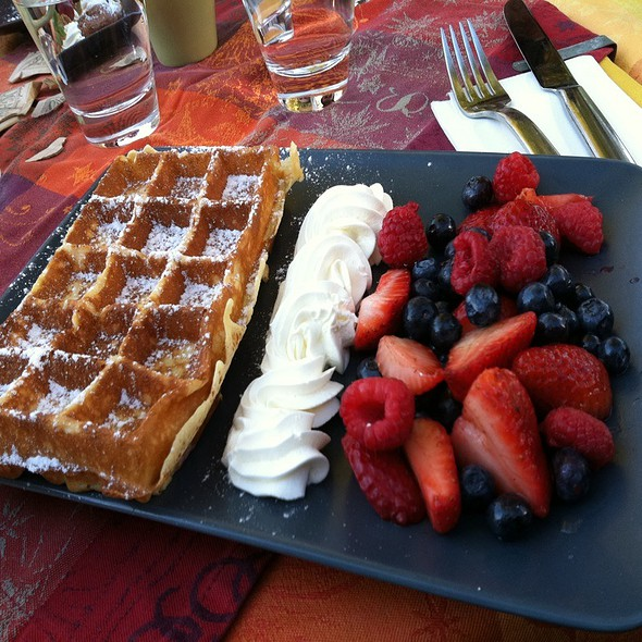 Belga Waffles With Fresh Berries - Belga Cafe, Washington, DC