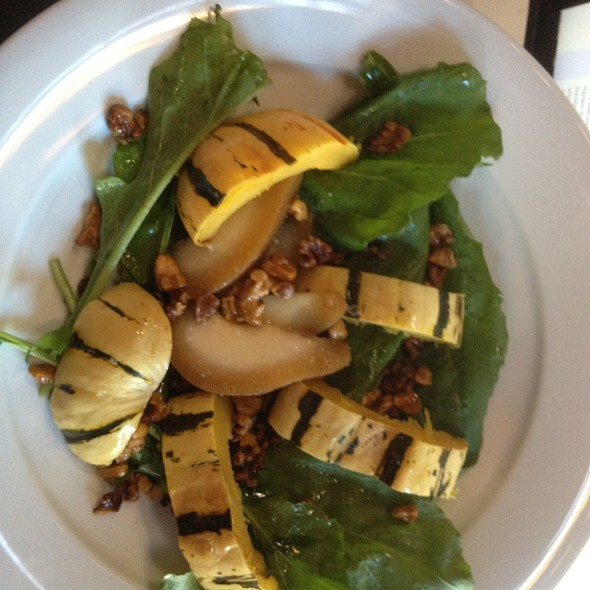 Chai Poached Pear And Squash Salad
