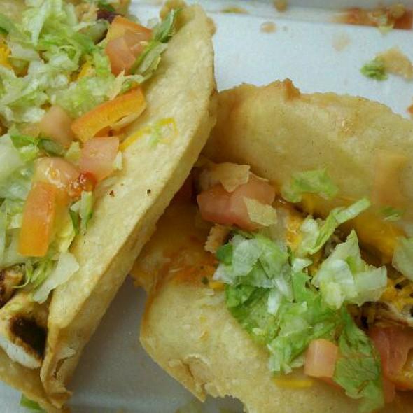 Chicken Puffy Tacos @ Boba Ni Taco