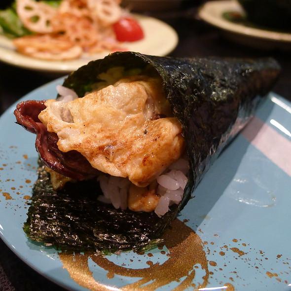 Bacon and Egg Hand Roll @ Sushi Hotaru