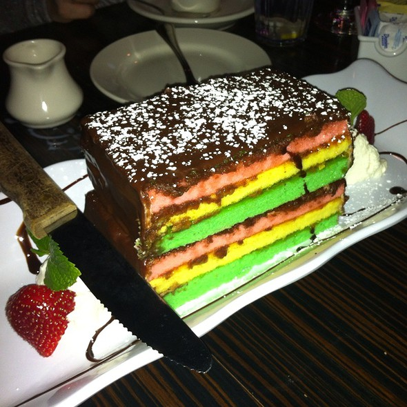 Italian Rainbow Cookie Cake - Ciao Baby Restaurant & Lounge - Commack, Commack, NY