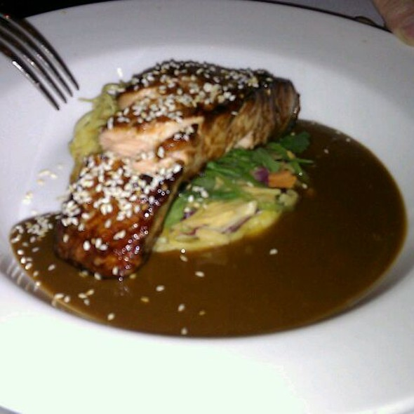 Salmon With Shoyu, Sesame And Greens - The Grill Room at the Square, Glasgow