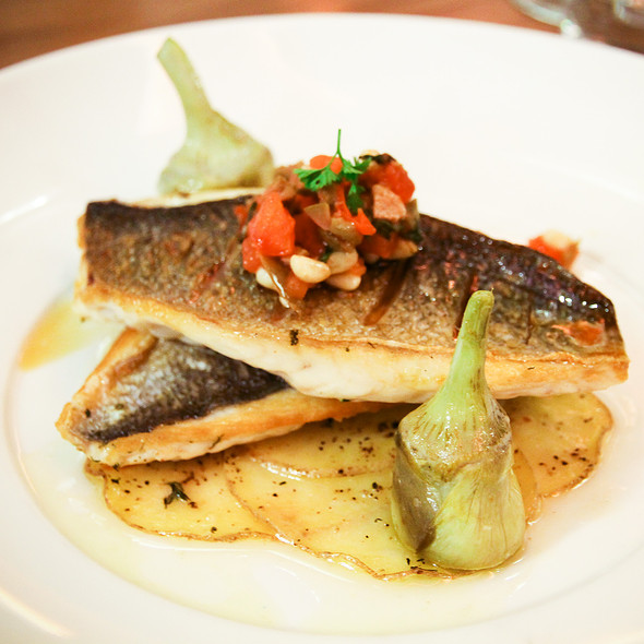 Pan-seared sea bream - The Chefs' House - George Brown College, Toronto, ON