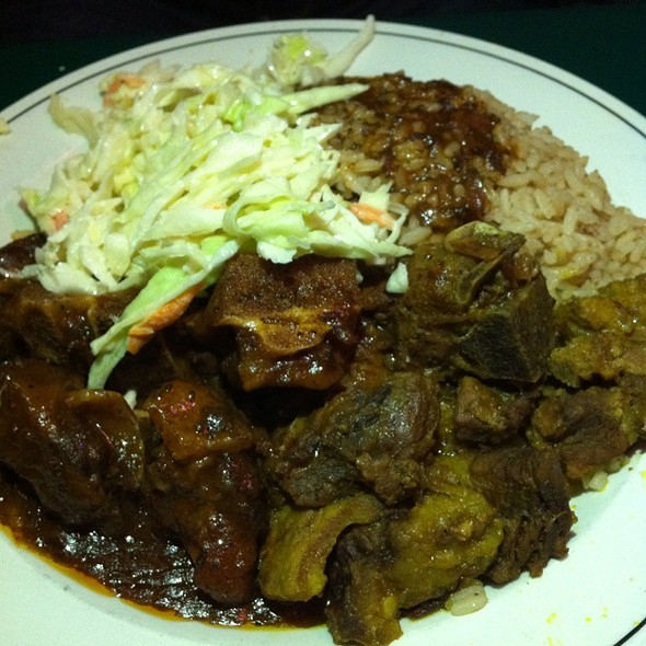 Goat Curry And Oxtail Combo - The Real Jerk Restaurant, Toronto, ON