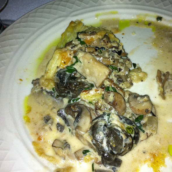 Escargot With Onions, Mushrooms And A Cognac Cream Sauce - Collage Restaurant, St. Augustine, FL