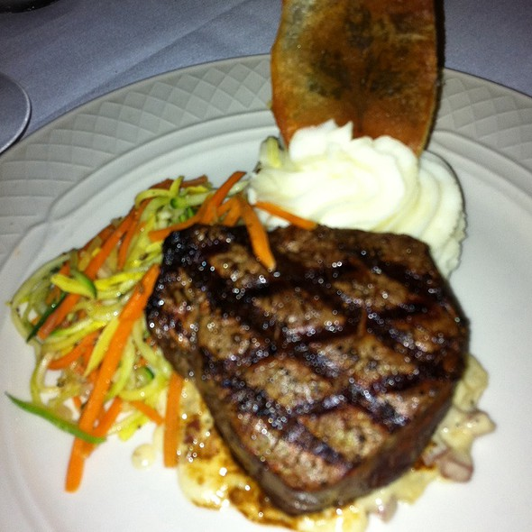 Filet Mignon With Vidalia Onions, Proscuitto And Gorgonzola Sauce - Collage Restaurant, St. Augustine, FL