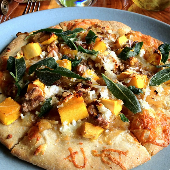 Fig, Squash, and Caramelized Onion Pizza - Greens Restaurant, San Francisco, CA