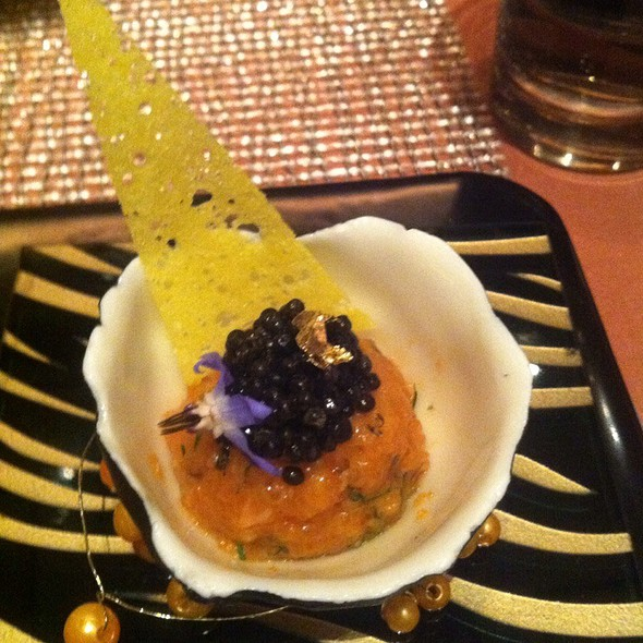 Salmon Tartar With Shiso Sprouts & Caviar - Joel Robuchon - MGM Grand, Las Vegas, NV