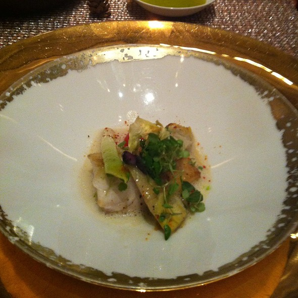 Sea Bass And Artichoke Cooked In Cocotte, Barigoule Jus - Joel Robuchon - MGM Grand, Las Vegas, NV