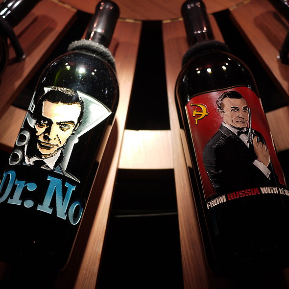 James Bond Wine Table - Del Frisco's Double Eagle Steak House - Las Vegas, Las Vegas, NV