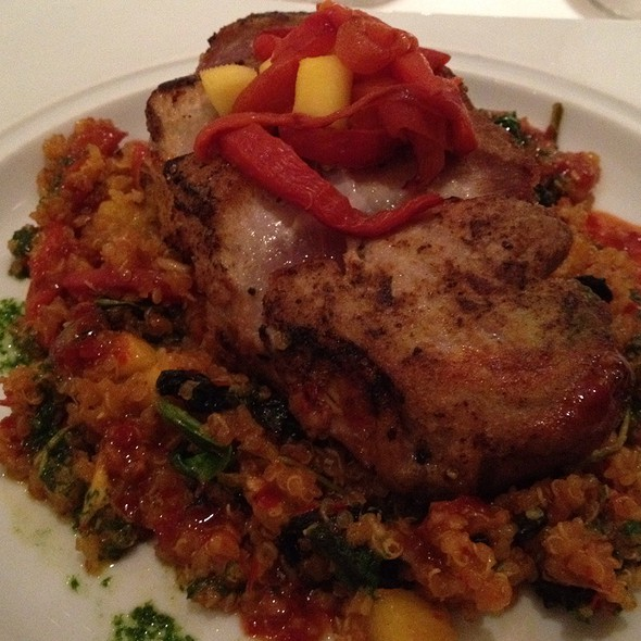 Red Spice Tuna With Quinoa - The Rattlesnake Club, Detroit, MI