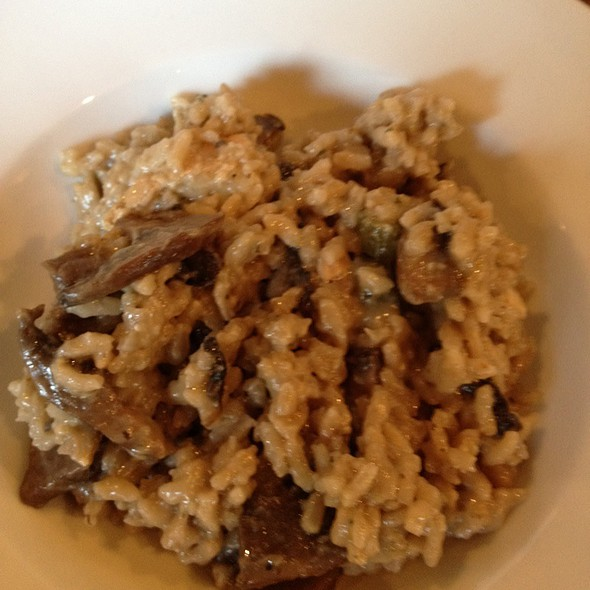 mushroom risotto - Petersham Nurseries Cafe, Richmond, Greater London