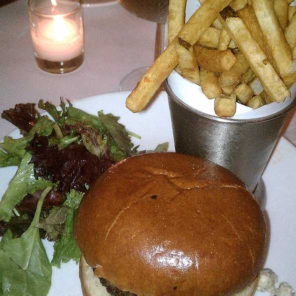 Burger with Bleu Cheese and Apples - Jacques Brasserie, New York, NY