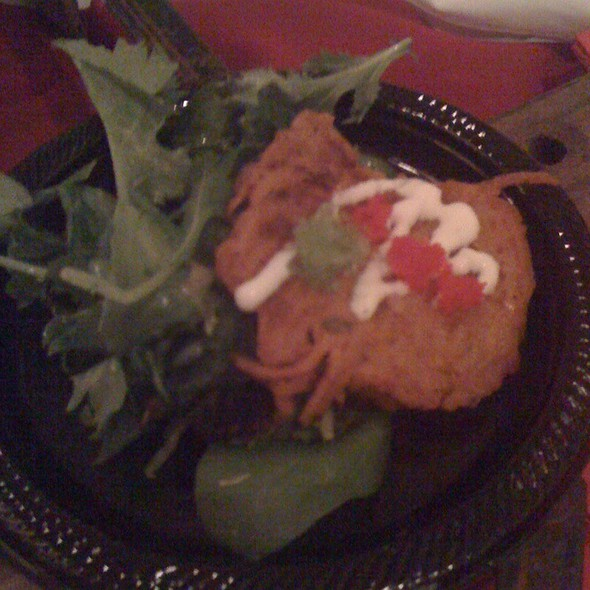 Roasted Sweet Potato Shrimp Cakes  - Marleys Island Grille, Hilton Head Island, SC