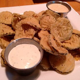 Fried Dill Pickle Chips - Chez Zee, Austin, TX