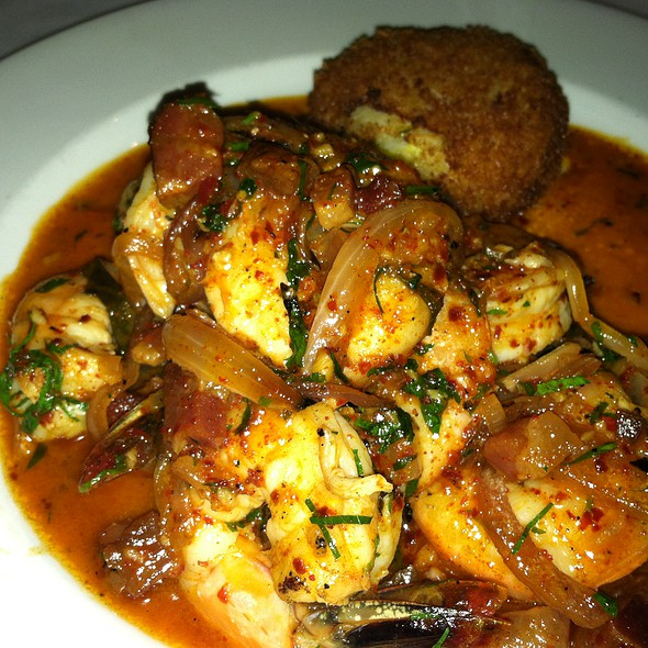 Sauteed Louisiana Jumbo Shrimp with Corn Arancini and Bacon  - Herbsaint, New Orleans, LA