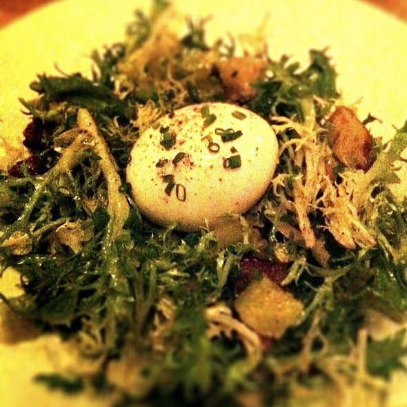 Poached Egg, Lardons and Frisee Salad - L'Albatros, Cleveland, OH