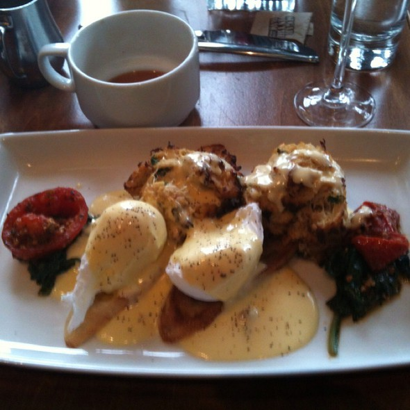 Crab Cake Eggs Benedict - Mesh Restaurant, Indianapolis, IN