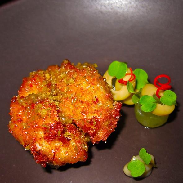 Crispy Cod Milt/ Green Grape/ Picholine Olive - Benu, San Francisco, CA