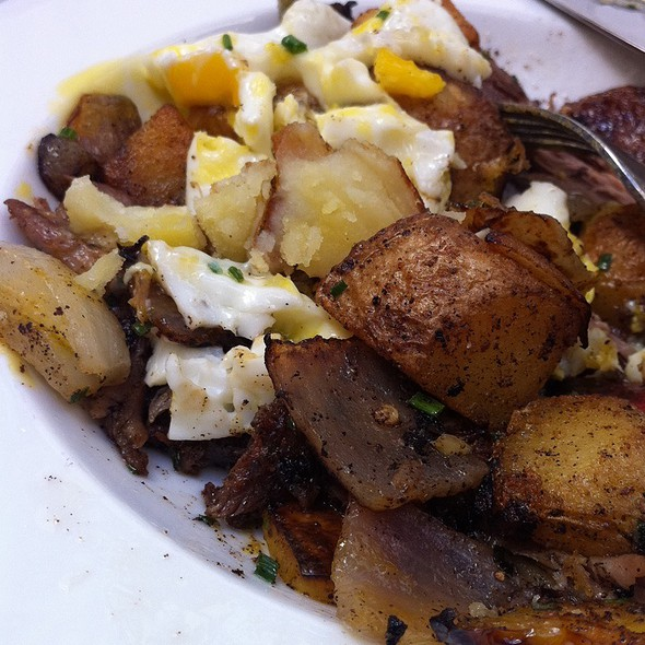 Duck And Potato Hash - Wood & Vine, Hollywood, CA