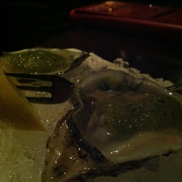 Blue Point Oyster Shots With Lemon Cucumber Vinaigrette - Simms Steakhouse, Golden, CO