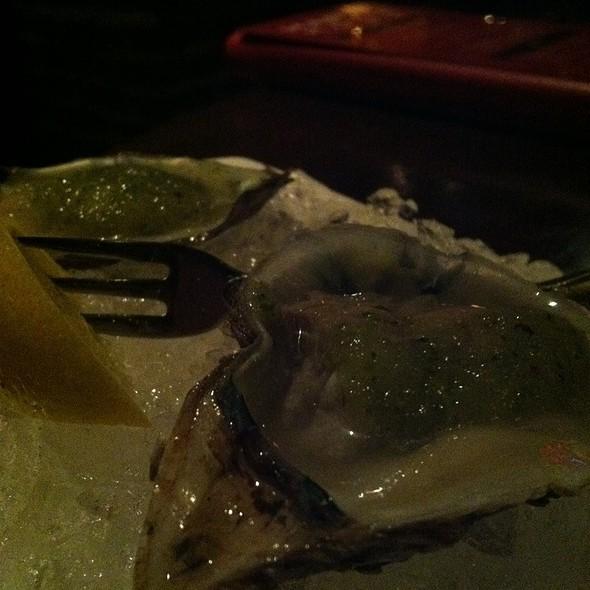 Blue Point Oyster Shots With Lemon Cucumber Vinaigrette - Simms Steakhouse, Golden, CO