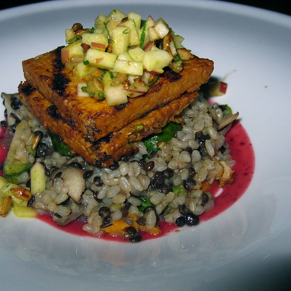 Mustard-Ginger Grilled Tempeh - Candle 79, New York, NY