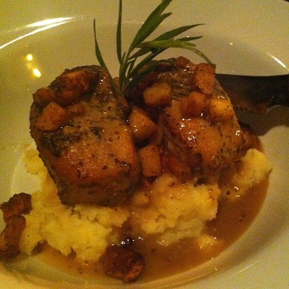 Pork Midallions With Fuji Apples Over Root Puree - Nirvana Grille - Laguna Beach, Laguna Beach, CA